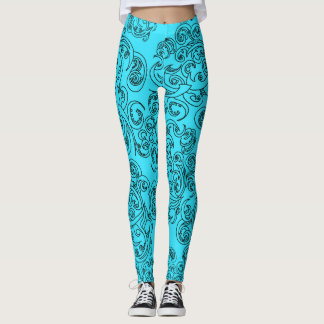 Turquoise Waves Leggings