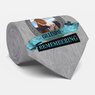 Turquoise Western Themed Horse Memorial Custom Tie