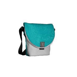 Turquoise Whirl - Messenger Bag