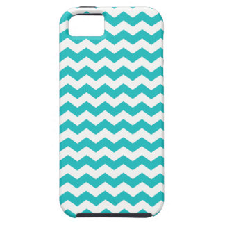 Turquoise white chevrons iPhone 5 covers