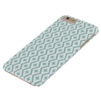 Turquoise-white geometric ornament.iPhone case