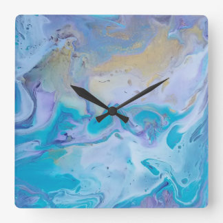 Turquoise, white, gold clock