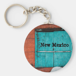 Turquoise Window Basic Round Button Key Ring