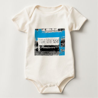 Turquoise with Bench Baby Bodysuit