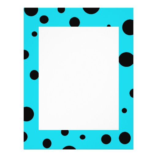 Turquoise with Black Polka Dots Fashion Fun Custom Flyer