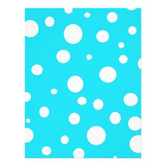 Turquoise with White Polka Dots Fashion Fun Custom Flyer