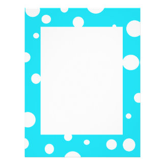 Turquoise with White Polka Dots Fashion Fun Flyers