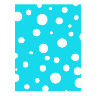 Turquoise with White Polka Dots Fashion Fun Postcard