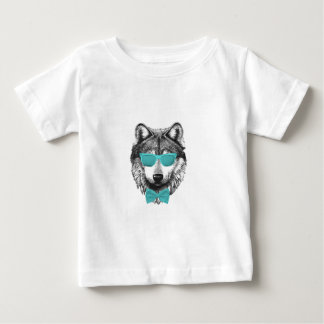 Turquoise Wolf Baby T-Shirt