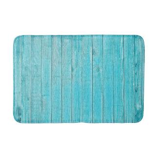 Turquoise Wood Texture Medium Bath Mat Bath Mats