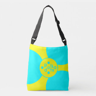 Turquoise & Yellow All-Over-Print Cross Body Bag