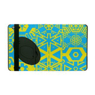 Turquoise yellow geometric 4Wesley iPad Folio Case
