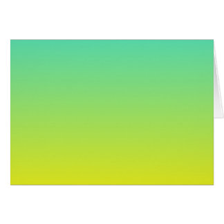 Turquoise Yellow Ombre Card