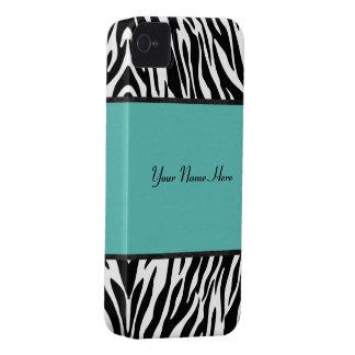 Turquoise Zebra Blackberry case