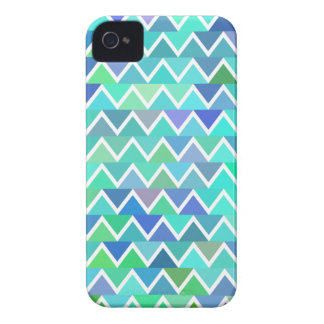Turquoise Zigzag Pattern iPhone 4/4S Case