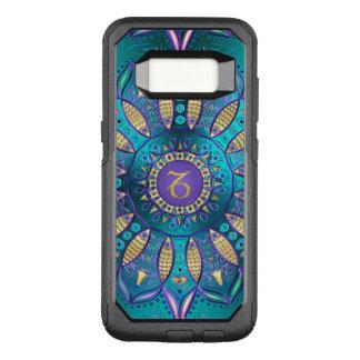 Turquoise Zodiac Sign Capricorn Mandala Case
