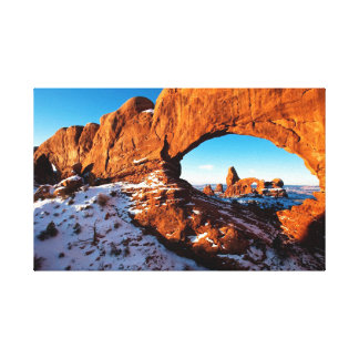 Turret Arch Through North Window Canvas Print