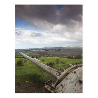 Turret of Israeli tank points to Qunietra Postcard