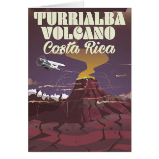 Turrialba Volcano Costa rica travel poster Card