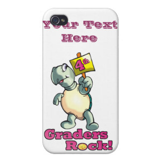 """Turtle """"4th Graders Rock"""" Design iPhone 4/4S Covers"""