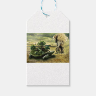 TURTLE AND ELEPHANT GIFT TAGS