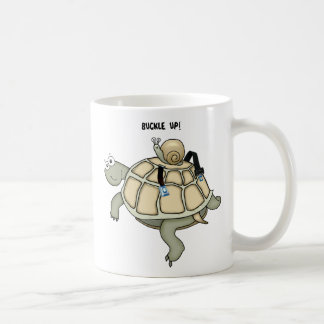 turtle and snail BUCKLE UP mug