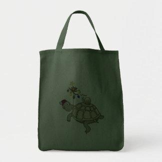 Turtle and Snail Christmas Tote Bag
