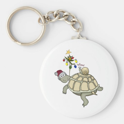 Turtle and Snail Christmas Key Chain