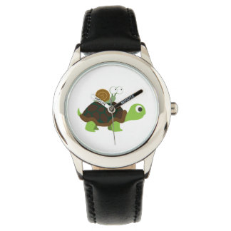 Turtle and snail watch