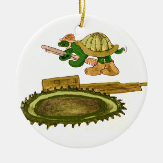 Turtle and Tank Ornament