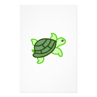 TURTLE APPLIQUE CUSTOM STATIONERY