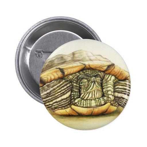"""Turtle"" Art Reproduction Button"