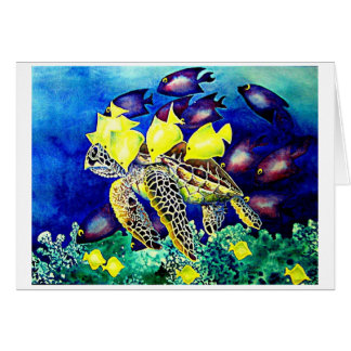 Turtle at Cleaning Station Card