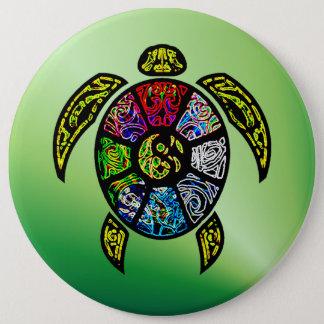 Turtle Ba-Gua 6 Cm Round Badge