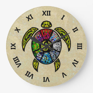 Turtle Ba-Gua Large Clock