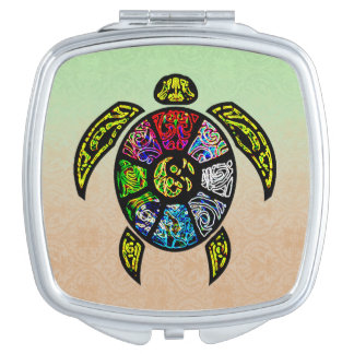 Turtle Ba-Gua Makeup Mirrors