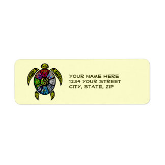 Turtle Ba-Gua Return Address Label