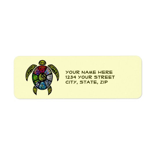 Turtle Ba-Gua Return Address Label