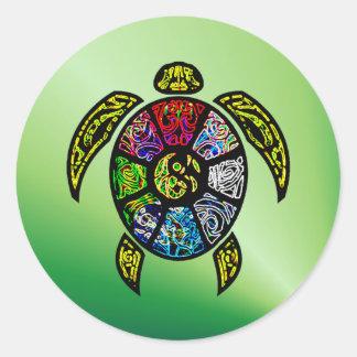 Turtle Ba-Gua Round Sticker