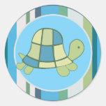 TURTLE BAY Blue Stripe Envelope Seals | favours Round Stickers