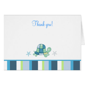Turtle Bay Modern Stripe Note Card