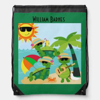 Turtle Beach Custom Drawstring Backpack Bag