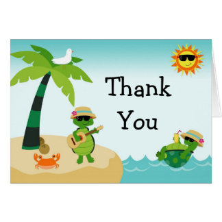 Turtle Beach Party Thank You Card
