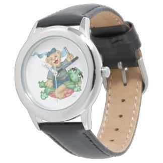 TURTLE BEAR CARTOON Stainless Steel Black Watch