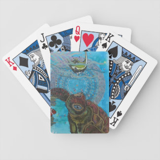 Turtle Bicycle Playing Cards