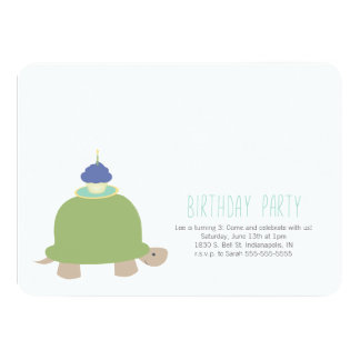 Turtle Birthday Party Invitation