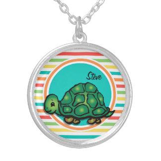Turtle Bright Rainbow Stripes Pendants