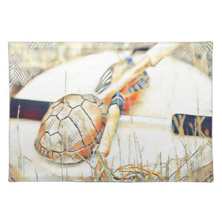 Turtle Clan Rattle and Drum Placemat