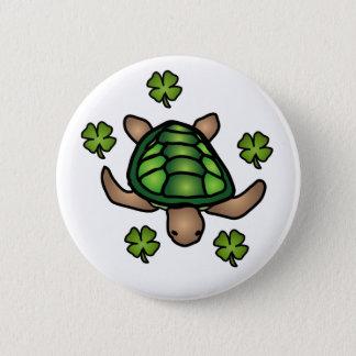 Turtle & Clover Button