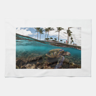 Turtle Crossing The Beach Rocks Towel